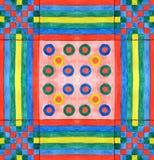 Fond d'aquarelle avec les lignes et les cercles colorés illustration stock