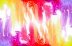 Fond d'aquarelle d'arc-en-ciel Photographie stock libre de droits