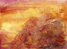 Fond d'aquarelle de coucher du soleil de lever de soleil illustration stock
