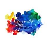 Fond d'aquarelle de vecteur Texture abstraite colorée Images stock