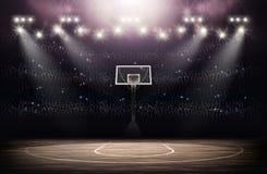 Fond d'arène de basket-ball Images libres de droits