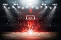 Fond d'arène de basket-ball Photo libre de droits