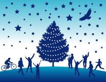 Fond d'arbre de Noël   Photo libre de droits