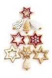 Fond d'arbre de sapin de gingembre de Noël Photographie stock