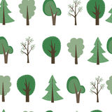 Fond d'arbres de bande dessinée Photographie stock