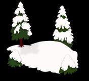 Fond d'arbres de neige illustration stock