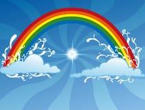 Fond d'arc-en-ciel Images libres de droits