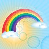 Fond d'arc-en-ciel illustration libre de droits