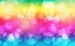 Fond d'arc-en-ciel de bulle de Bokeh Photographie stock libre de droits