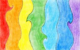 Fond d'arc-en-ciel de couleur de crayon Image libre de droits