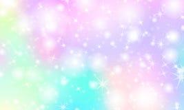 Fond d'arc-en-ciel de licorne Ciel olographe illustration de vecteur