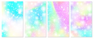 Fond d'arc-en-ciel de licorne Ciel olographe illustration libre de droits