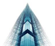 Fond d'architecture de construction rendu 3d Images stock