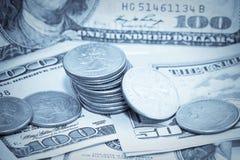 Fond d'argent des USA Photographie stock