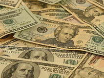 Fond d'argent - dollars. Image stock