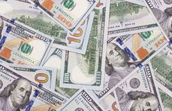 Fond d'argent liquide d'argent d'abrégé sur dollar US 100 Photographie stock