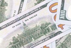 Fond d'argent liquide d'argent d'abrégé sur dollar US 100 Image libre de droits