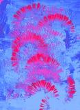 Fond d'art abstrait Art moderne Texture lumineuse multicolore fleuve de peinture ? l'huile d'horizontal de for?t photos libres de droits