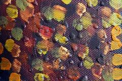 Fond d'art abstrait Peinture à l'huile sur la toile Peint à la main Art contemporain Fragment d'illustration photos libres de droits