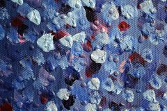 Fond d'art abstrait Peinture à l'huile sur la toile Peint à la main Art contemporain Fragment d'illustration photographie stock