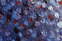 Fond d'art abstrait Peinture à l'huile sur la toile Peint à la main Art contemporain Fragment d'illustration photo libre de droits