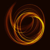 Fond d'art de fractale avec des vagues de spirale de couleur Photos libres de droits