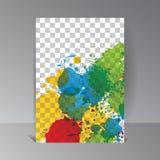 Fond d'art de vecteur Illustration de waterdrop de peinture de couleur illustration libre de droits