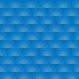 Fond d'Art Sea Waves Vector Pattern de bande dessinée Images stock