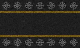 Fond d'asphalte avec des flocons de neige Photos libres de droits
