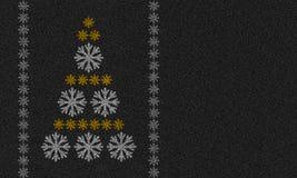Fond d'asphalte avec des flocons de neige Photographie stock libre de droits