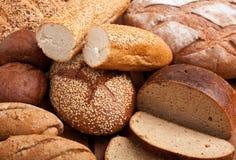 Fond d'assortiment de pain Photographie stock libre de droits