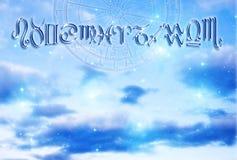 Fond d'astrologie photographie stock libre de droits