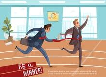 Fond d'athlétisme d'affaires de bureau illustration de vecteur