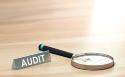 Fond d'audit, finances ou concept de comptabilité Photo stock
