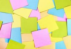 Fond d'autocollants de papier coloré Photographie stock