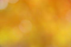 Fond d'automne/automne - tache floue abstraite d'or Photos libres de droits
