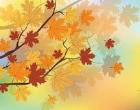 Fond d'automne avec des feuilles illustration stock