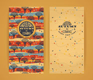 Fond d'automne avec la typographie Image stock