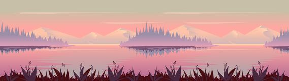Fond d'automne Graphiques de vecteur de paysage de nature, illustration de vecteur pour votre conception illustration libre de droits