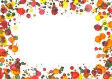 Fond d'automne La peinture de jet, cadre d'éclaboussure d'aquarelle, peinture colorée laisse tomber la texture illustration libre de droits
