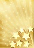 Fond d'or avec des étoiles Photos stock