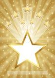 Fond d'or avec des étoiles Image libre de droits