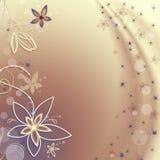 Fond d'or avec des fleurs et des bulles photo libre de droits