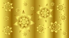 Fond d'or avec les étoiles 2 Image libre de droits