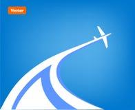 Fond d'avion Image stock