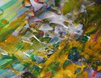 Fond d'or blanc vert argenté élégant d'abrégé sur peinture photo libre de droits