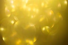 Fond d'or, célébration d'or abstraite de lumière de bokeh Photos libres de droits