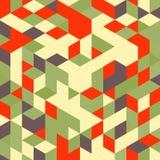 Fond 3d coloré géométrique abstrait canette illustration stock