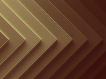 Fond d'or d'abrégé sur flèche canette illustration libre de droits