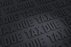 Fond dû d'impôts Photos libres de droits